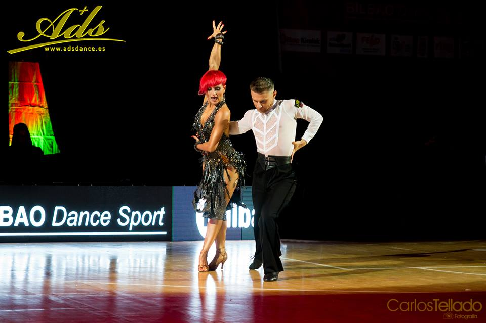 Stefan Grigore and Laura Filipescu en Bilbao Dancesport con zapatos de baile ADS