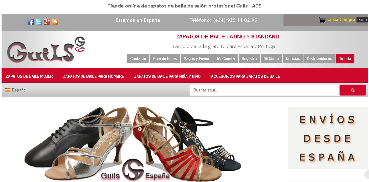 8c24d083 Compra zapatos de baile Guils ADS online en España